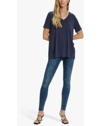 Soaked In Luxury Columbine Oversized T-shirt - Blue