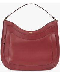 Jaeger Leather Hobo Bag - Red