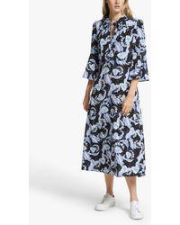 Somerset by Alice Temperley Dahlia Midi Dress - Blue