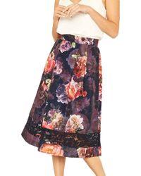 ed657baface5 Oasis Check Marley Mini Skirt - Lyst