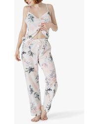 Maison Lejaby Nufit Garden Print Pyjama Top - White