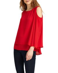 Phase Eight - Dania Cold Shoulder Blouse - Lyst