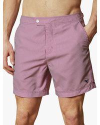 Ted Baker Geswork Striped Swim Shorts - Purple