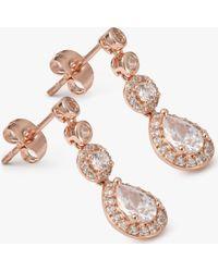 Ivory & Co. - Charleston Cubic Zirconia Drop Earrings - Lyst