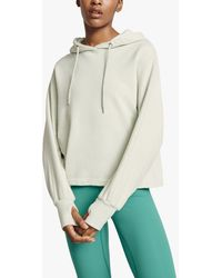 Ghost Cropped Organic Cotton Hoodie - Green
