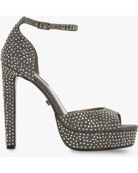 Dune - Manhatan Embellished Block Heel Platform Sandals - Lyst