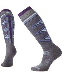 Smartwool Phd Ski Light Pattern Socks - Gray