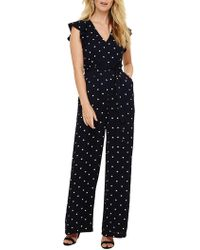 Phase Eight - Navy And Ivory Dotty Jumpsuit - Lyst
