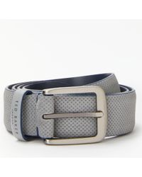 Ted Baker - Trinnie Perforated Suede Belt - Lyst