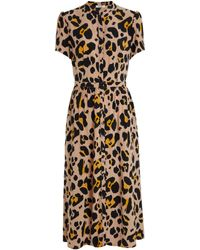 Somerset by Alice Temperley Somerset By Alice Temperly Oversized Leopard Print Shirt Dress - Multicolour