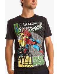Fabric Flavours Spider-man Comic T-shirt - Grey