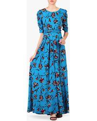 Jolie Moi Floral Print Maxi Dress - Blue