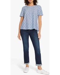 White Stuff Horizon T-shirt - Blue