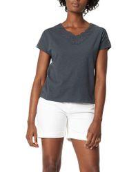 White Stuff - Lace Neck Jersey T-shirt - Lyst