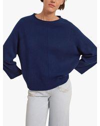 Gerard Darel Douce Cashmere Pullover Jumper - Blue