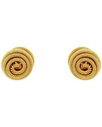 Monet - Spiral Ball Stud Earrings - Lyst