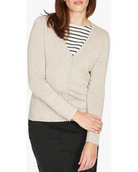 Thought Loren Organic Cotton V-neck Cardigan - Grey