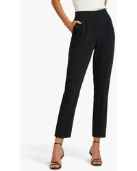 Forever New Zoe Pleated Trousers - Black