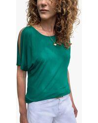 Baukjen Ros Cold Shoulder Top - Green