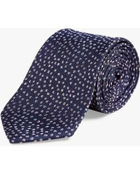 Richard James Casual Spot Silk Tie - Blue