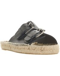 Dune Black | Luso Double Buckle Espadrille Slip On Sandals | Lyst