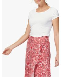 Brora Cotton Knit T-shirt - White