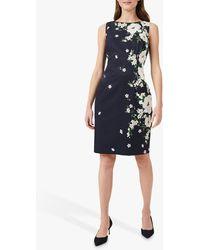 Hobbs Moira Floral Print Dress - Blue
