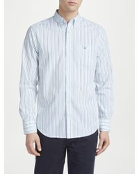 GANT - Regular Fit Poplin Banker Stripe Shirt - Lyst