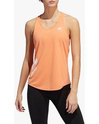 adidas Own The Run 3-stripes Pb Running Vest - Orange