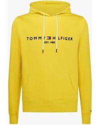 Tommy Hilfiger Logo Hoodie - Amarillo