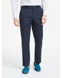 John Lewis - Woven In Italy Cotton Cashmere Tailored Suit Trousers - Lyst