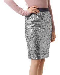 4f3d57e4751a7 Gerry Weber Stretch Jersey Jacquard Pencil Skirt in Blue - Lyst