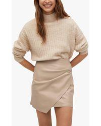 Mango Faux Leather Mini Skirt - Multicolour
