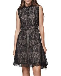 Reiss | Tori Fit And Flare Lace Dress | Lyst