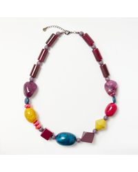One Button - Long Beaded Necklace - Lyst