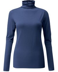 Pure Collection - Valeria Roll Neck Top - Lyst