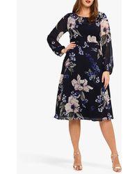 Studio 8 Elise Floral Dress - Blue