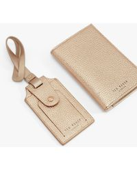 Ted Baker Farran Leather Passport Cover & Luggage Tag Gift Set - Multicolour