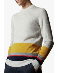 Ted Baker Host Stripe Jumper - Grey
