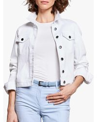 Pure Collection Denim Jacket - White