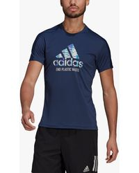 adidas Run For The Oceans Graphic Running Top - Blue