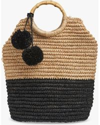 L.K.Bennett Ludmilla Raffia Tote Bag - Multicolour