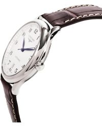 Longines - Men's Master Collection L26284785 Leather Strap Watch - Lyst