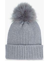 Hush Ellie Pom Pom Beanie Hat - Grey