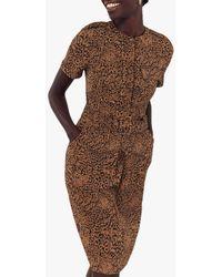 Oasis Mylah Animal Print Dress - Brown