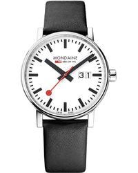 Mondaine - Mse.40210.lb Unisex Evo 2 Date Leather Strap Watch - Lyst