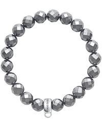 Thomas Sabo - Charm Club Faux Hematite Bracelet - Lyst