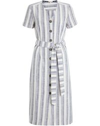 Barbour Dover Stripe Dress - White
