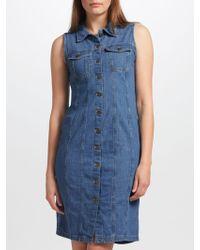 Levi's - Aubrey Western Denim Dress - Lyst