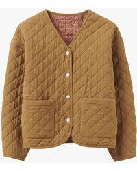 Toast Textured Quilted Jacket - Multicolour